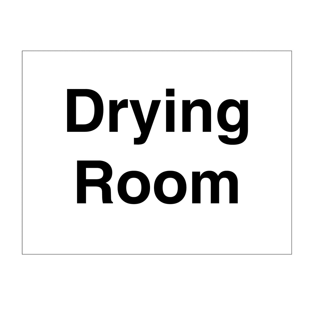 Door Sign Drying Room