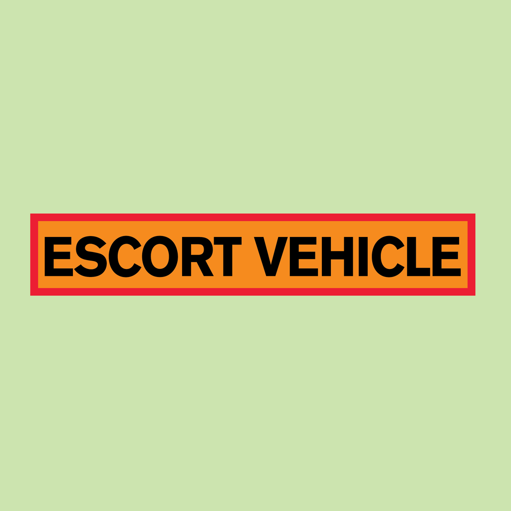 Escort Vehicle Marker Board from www.barrowsigns.com