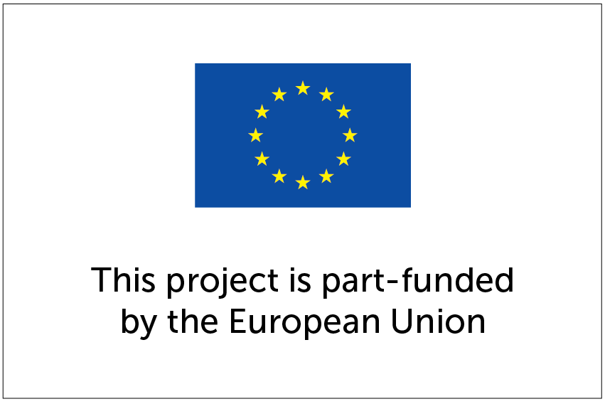 Sign to note European Union EU funding or part funding of projects