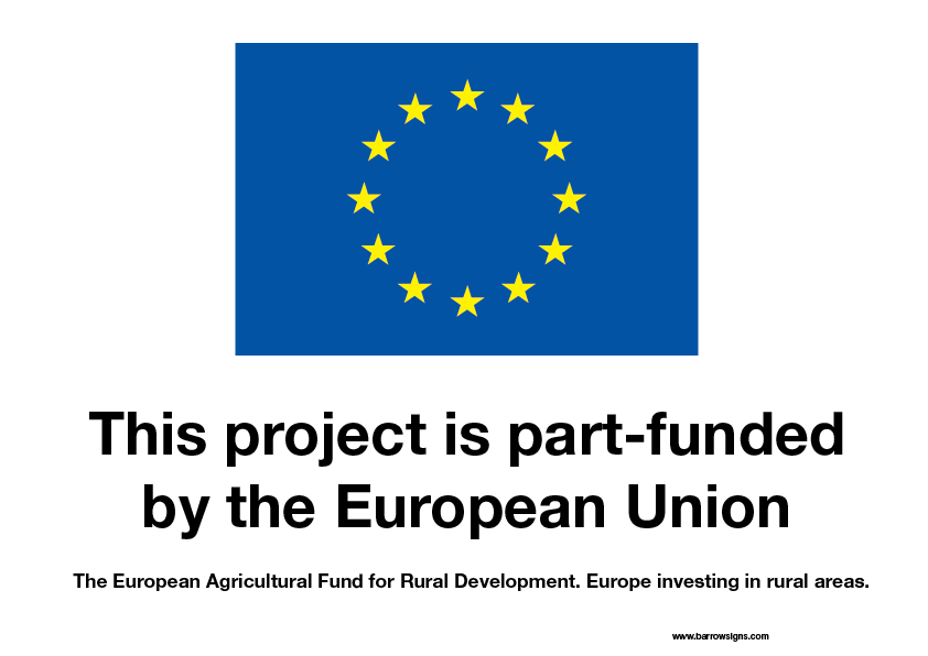 EU Part Funded sign Eu Investing in Rural Areas
