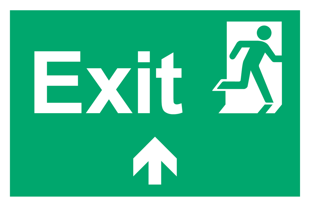 Exit Ahead sign available for sale on line at www.signsonline.ie