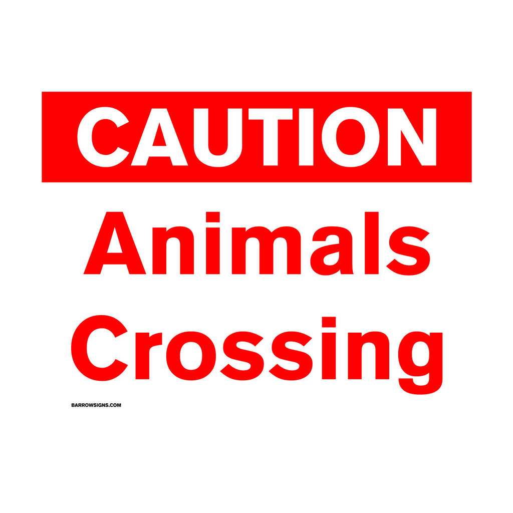 Caution - Animals Crossing Sign