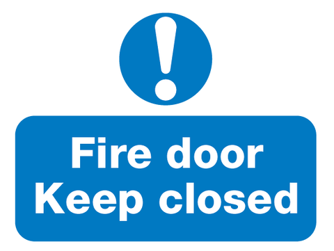 Fire Door Keep Closed sign from Barrow Signs