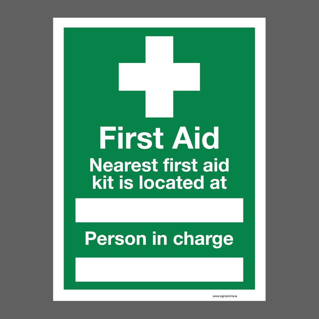 First Aid Sign for sale at www.signonline.ie