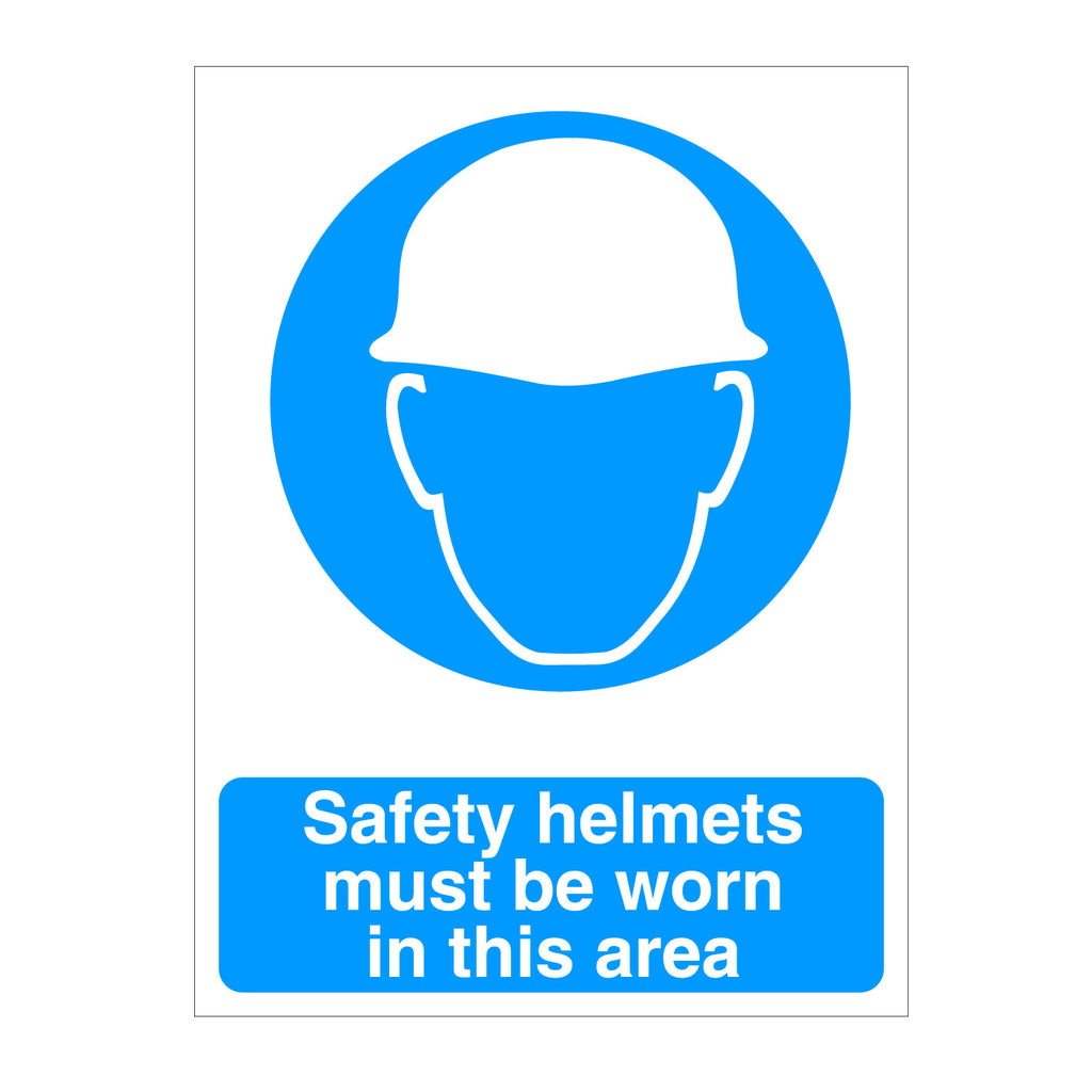 Helmets Must Be Worn In This Area Sign