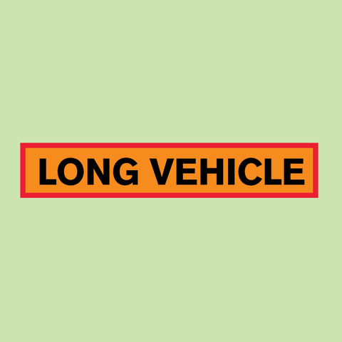 Long Vehicle Marker Board available with express delivery from Barrow Signs