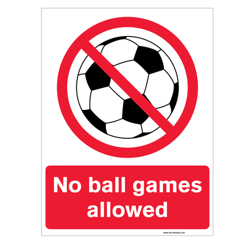 No Ball Games Allowed sign for sale at www.signsonline.ie