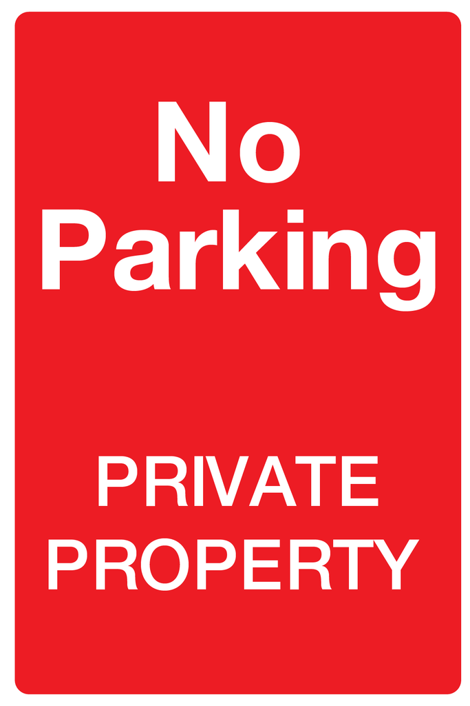 No Parking Private Property Sign for sale at www.barrowsigns.com