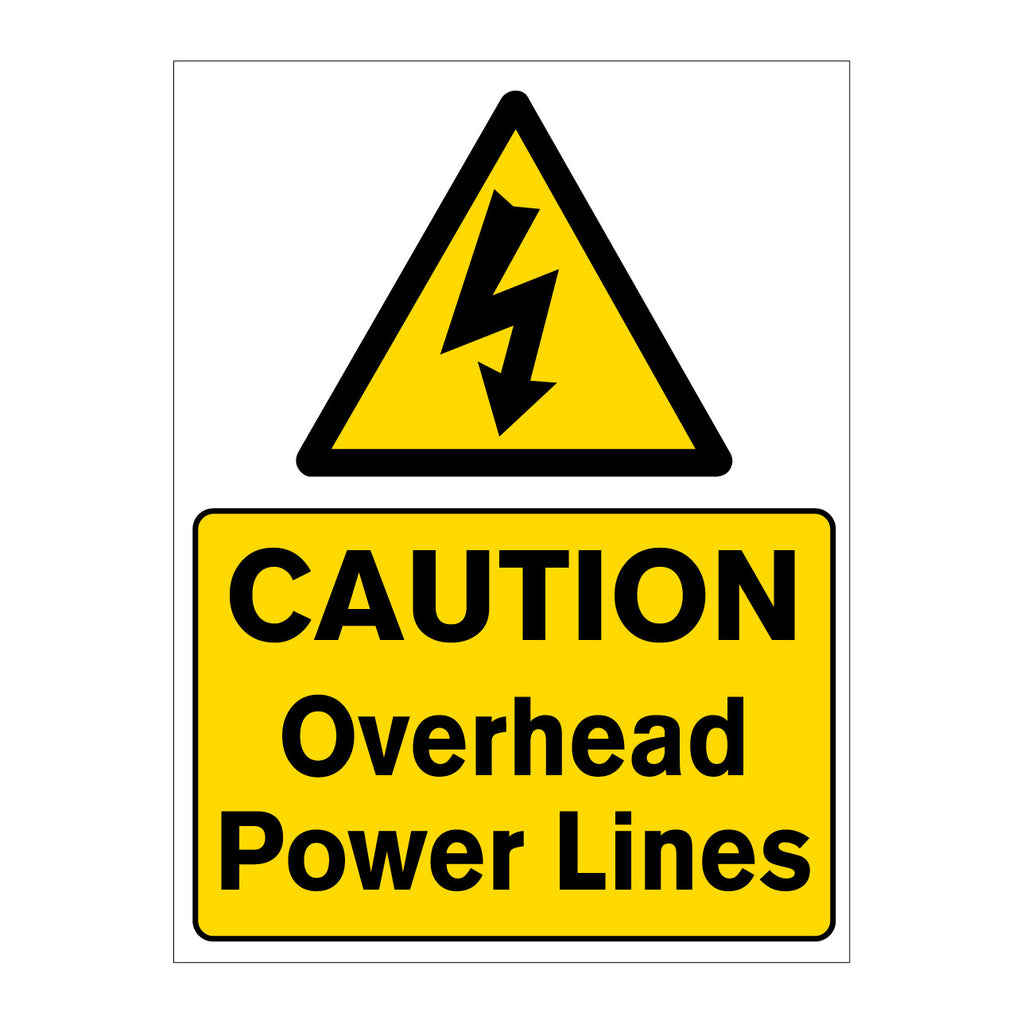 Caution Overhead Power Lines