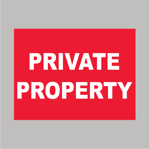 private property sign available from www.barrowsigns.com