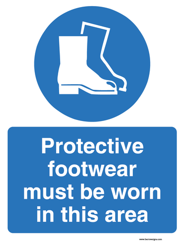 Protective Footware Must Be Worn