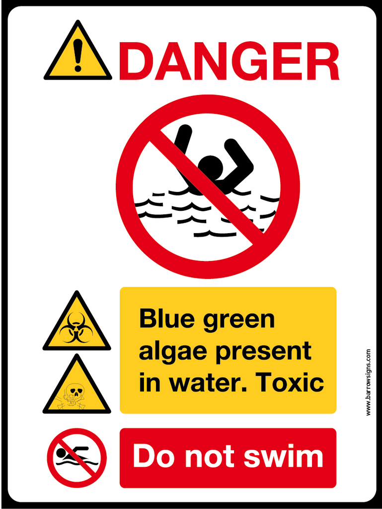 DANGER! ALGAE IN WATER DO NOT SWIM