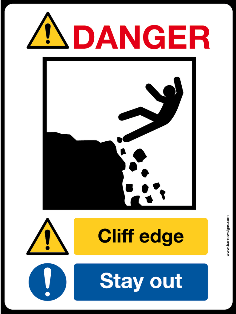 DANGER! CLIFF EDGE - STAY OUT