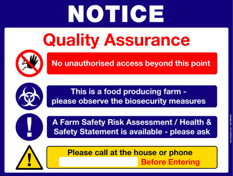 Quality Assurance Sign for farm enterprises for sale at www.barrowsigns.com