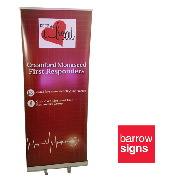 roll up banner available to buy online from www.signsonline.ie