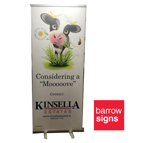 pull up banner available to buy online from www.barrowsigns.com
