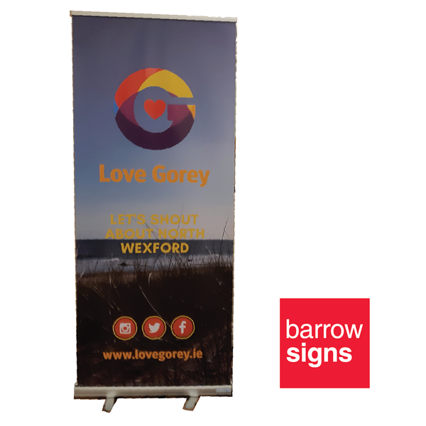 pull up banner available to buy online from www.signsonline.ie