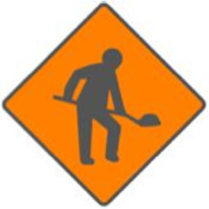 WK 001 Roadworks ahead sign from Barrow Signs. Free Delivery available on this product