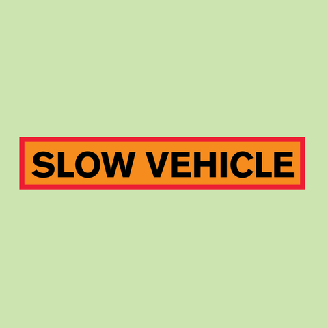 Slow Vehicle Marker Board 1220 x 225mm