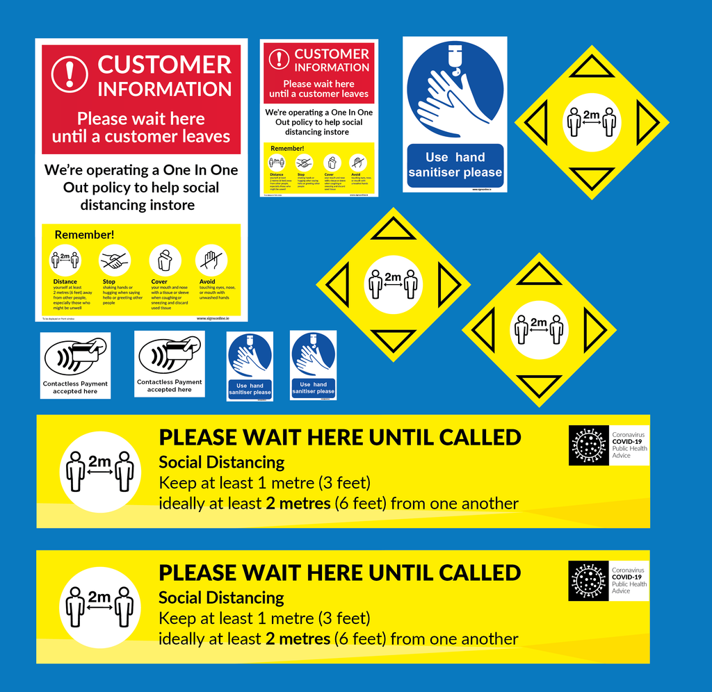Self Adhesive Sticker Pack designed for Shops and Retail Operations for sale from www.signsonline.ie