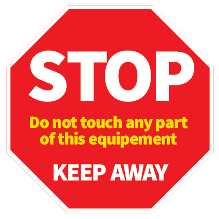 Stop! Keep Away self adhesive vinyl sticker for sale at www.signsonlin.ie