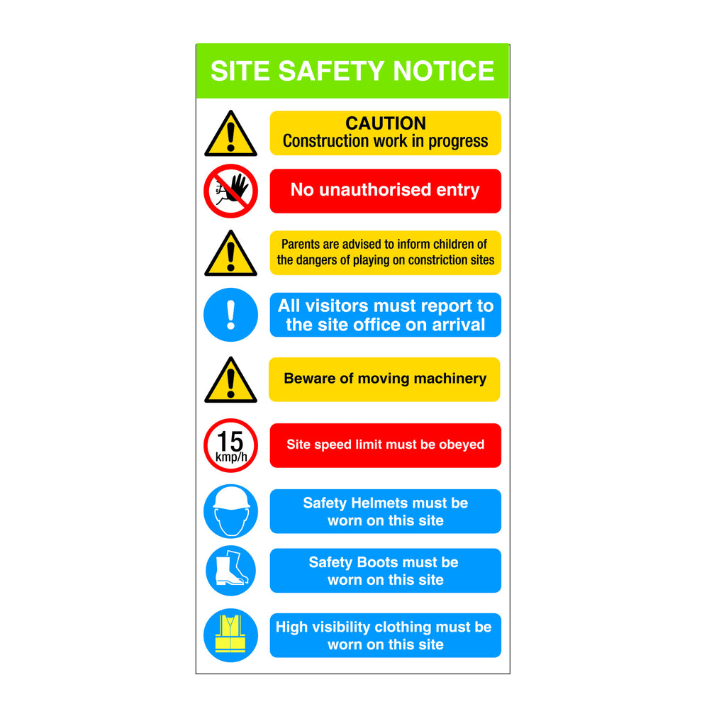 Construction Site Safety and Warning Sign
