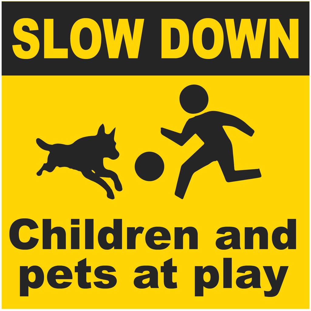 Slow Down - Children and Pets at Play