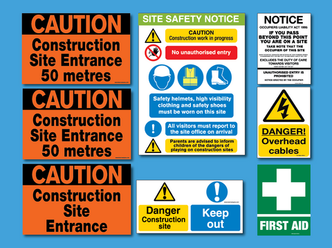 Small and self build prject safety sign pack for sale at www.signsonline.ie