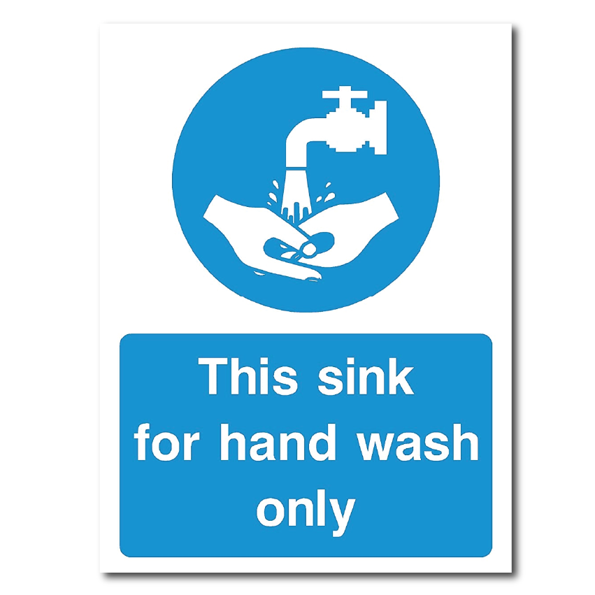 This Sink Is For Handwash Only available from Signs Online - leading Irish online signage website