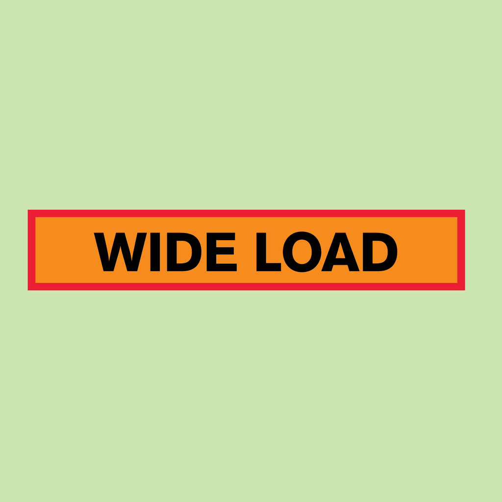 Wide Load Vehicle Marker Board 1220 x 225mm from Barrow Signs