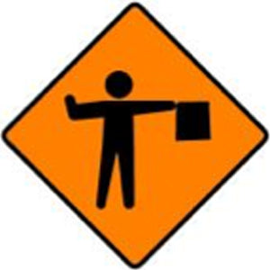 WK 061 Flagman Ahead Sign from barrowsigns.com