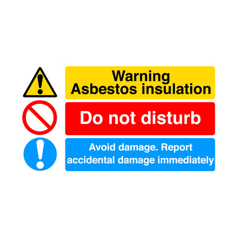 Warning Asbestos Insulation Sign