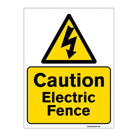 Caution - Electric Fence