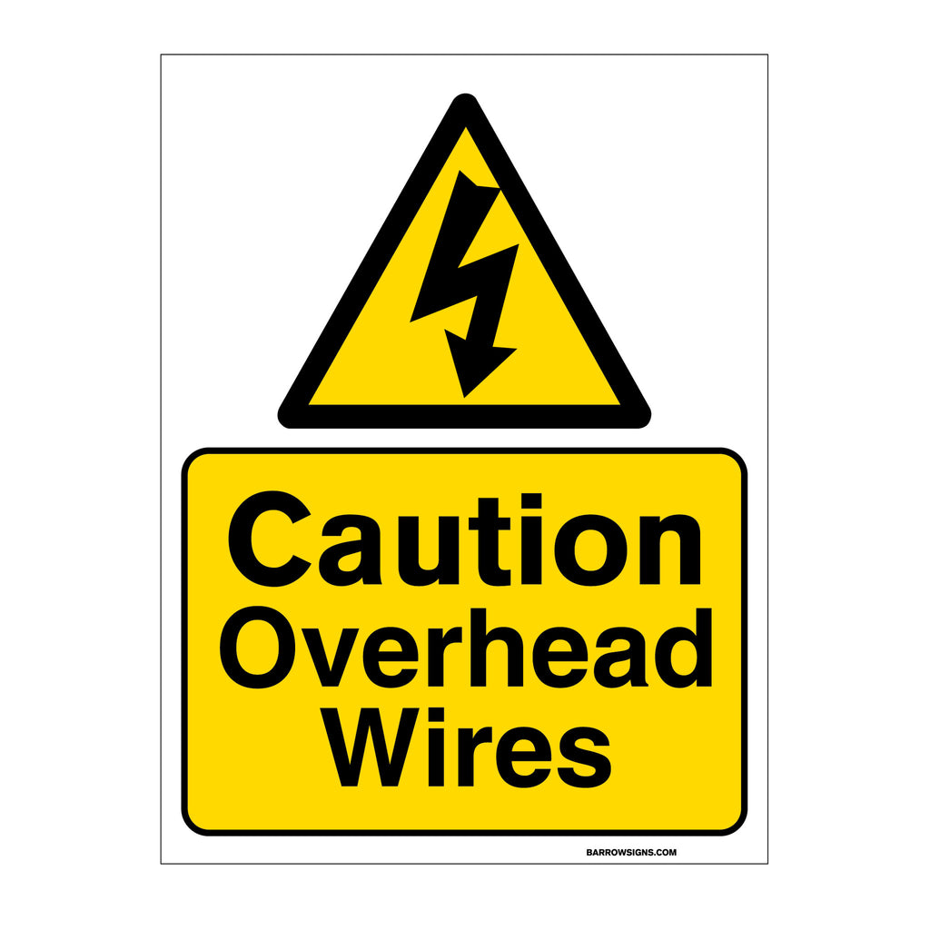 Caution Overhead Wires