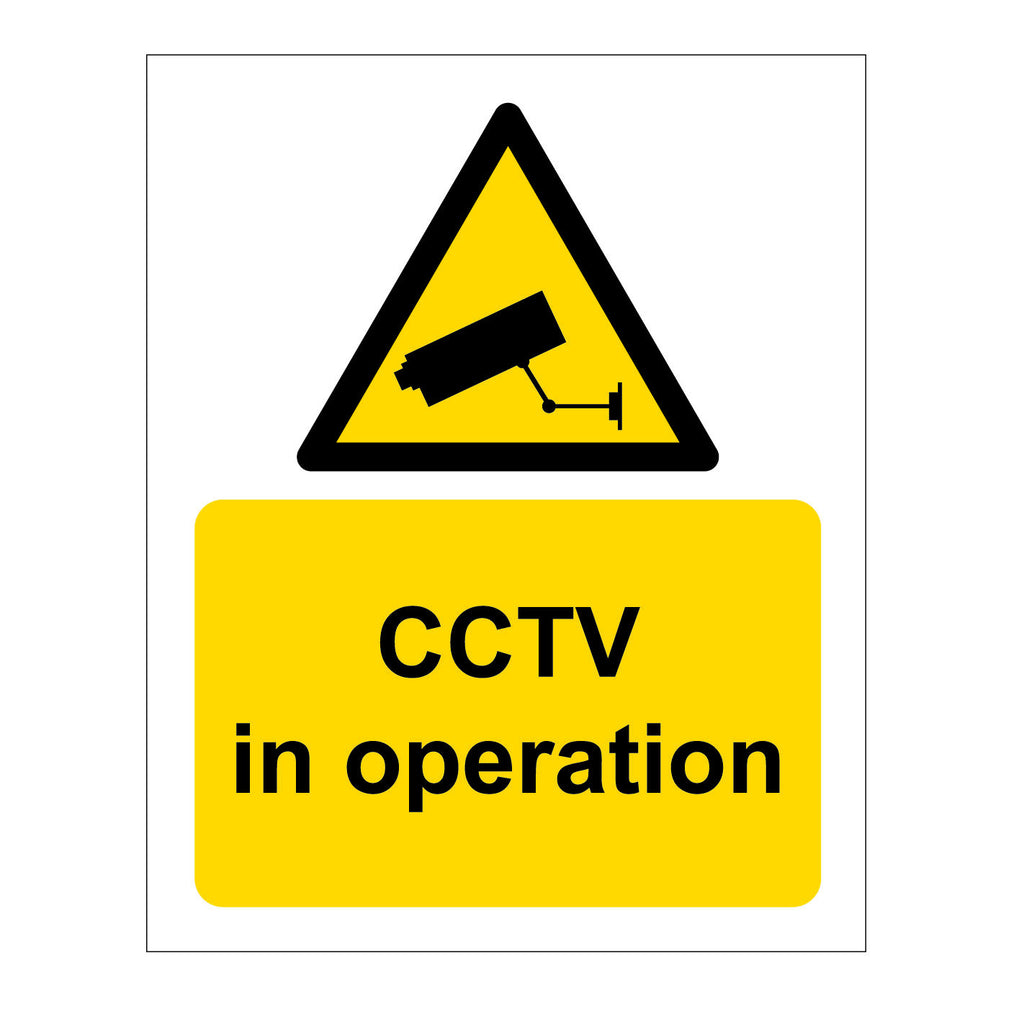 CCTV in Operation warning sign on sale at www.barrowsigns.com