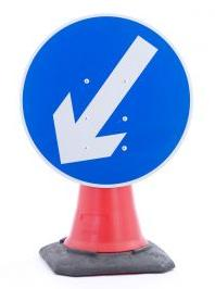 Cone Mounted ARROW Sign