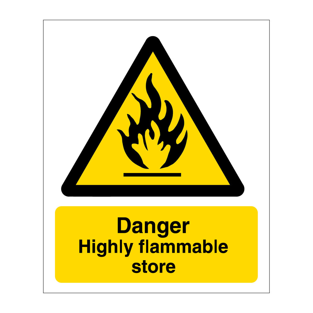 Danger Highly Flammable Store Sign