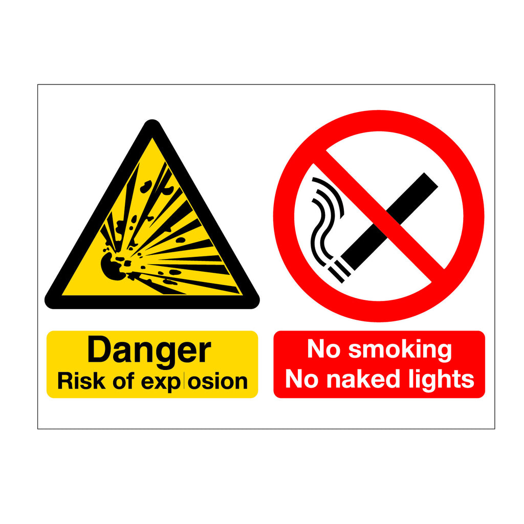 Danger of Explosion No Smoking Sign