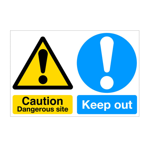 Caution Dangerous Site - Keep Out Sign
