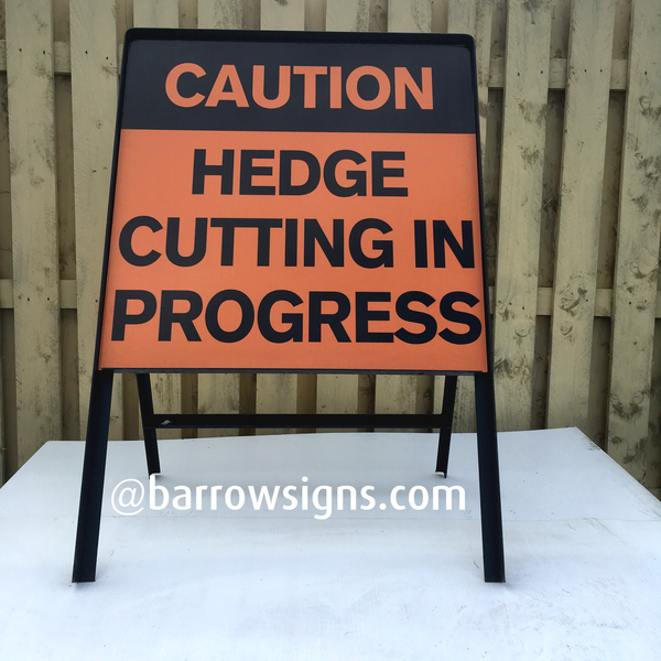 Hedge Cutting warning signage from Barrow Signs