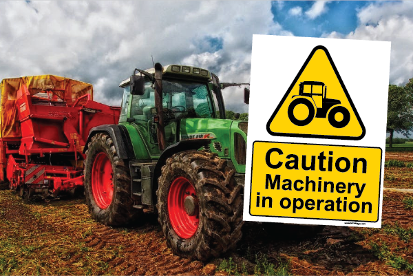 Caution Machinery in Operation Sign