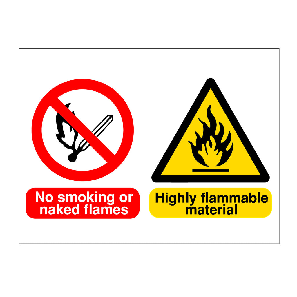 No Naked Flame - Flammable Material Sign