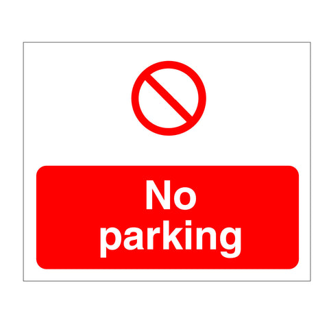 No parking sign from www.barrowsigns.com