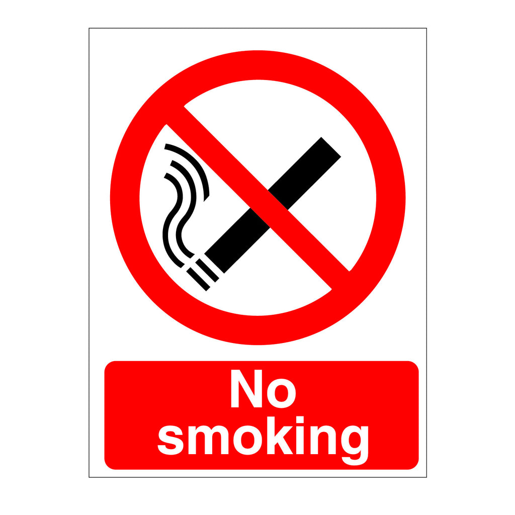 No Smoking Sign for sale from www,barrowsigns.com. Best prices and fast delivery.