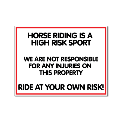 Riding Is A Risk Sport (Short Version)