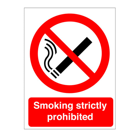 Smoking strictly prohibited sign from www.barrowsigns.com