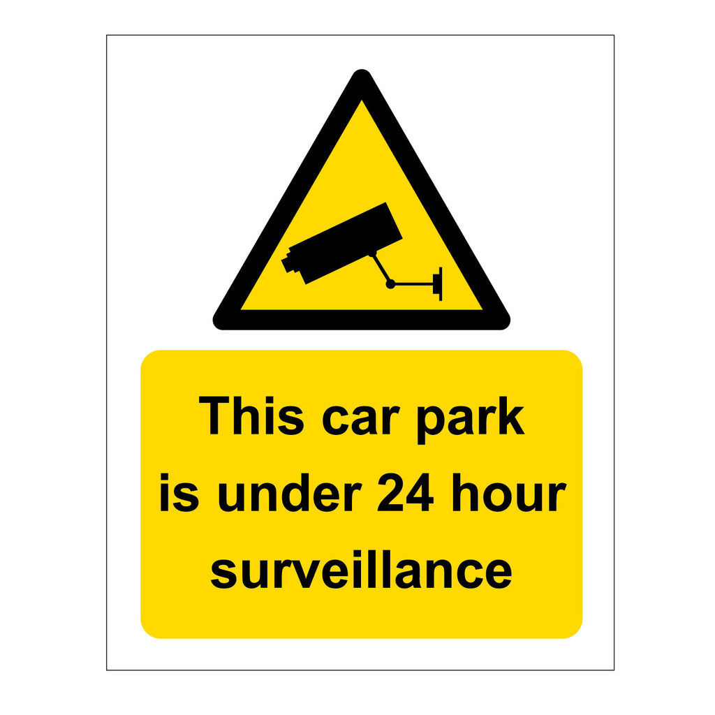CCTV signage for Car Parks. Available for sale at www.barrowsigns.com