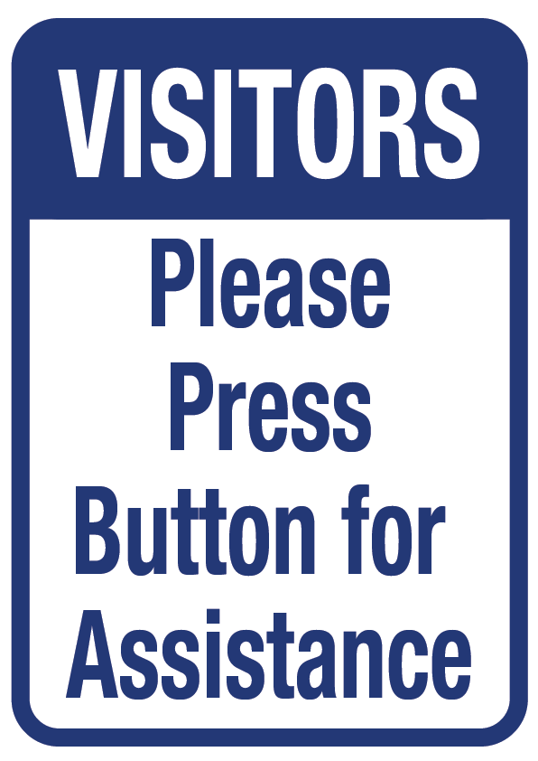 Visitors Press Buzzer
