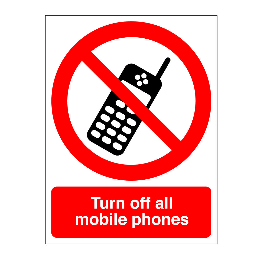 Turn Off Mobile Phones Sign