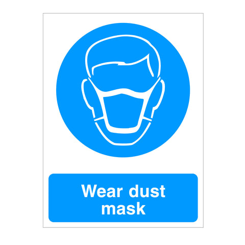 Wear Dust Mask sign available to buy from www.signsonline.ie